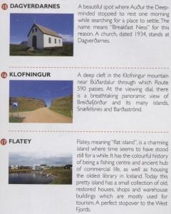 Turystyczna mapa Islandii Zachodniej