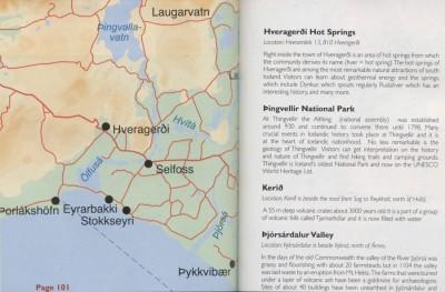 Turystyczna mapa Islandii Południowej