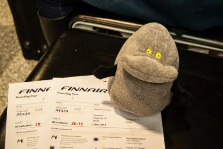 Buka w samolocie do Rovaniemi