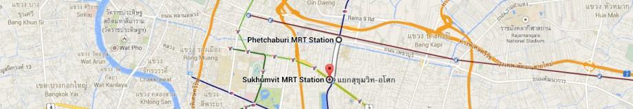 stacja metra Phetchaburi - stacja metra Sukhumvit