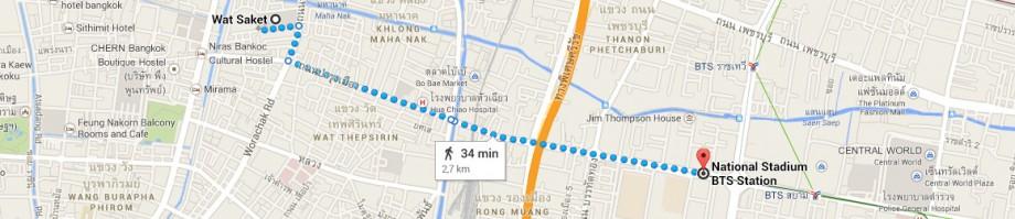 stacja metra National Stadium - Wat Saket