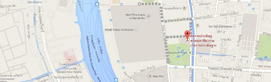 Wielki Pałacu Królewskiego - Wat Ratchapradit - skrzyżowanie przy Wat Pho