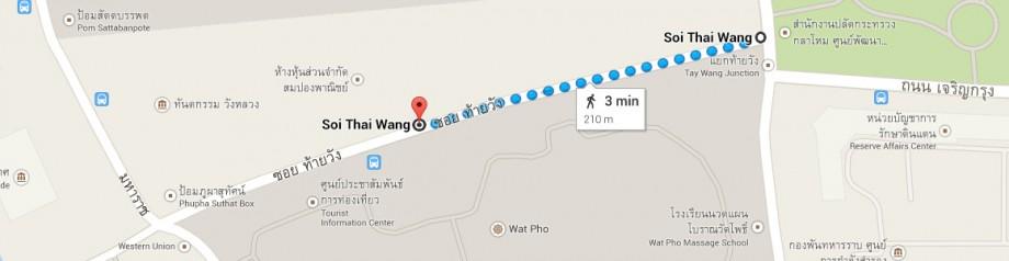 skrzyżowanie przy Wat Pho - Wat Pho