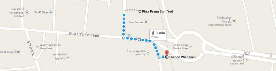 Lop Buri parking - Phra Prang Sam Yod