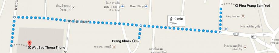 Phra Prang Sam Yod - Wat Sao Thong Thong