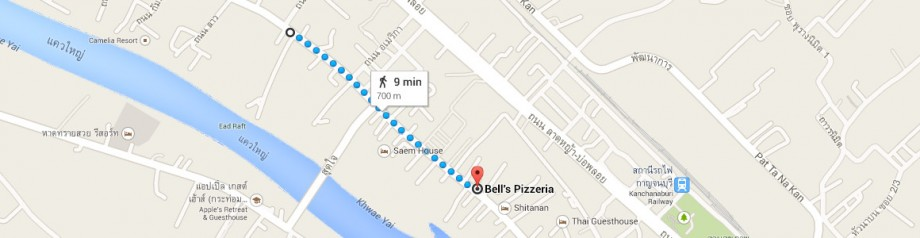 Sam's Guesthouse Kanchanaburi - Bell's pizza